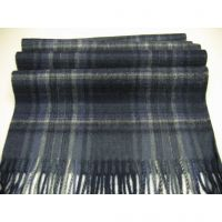 Latest design men black&grey lambswool neck scarf Y-09163