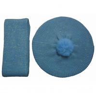 2013 winter blue thicken cashmere hats&scarf sets Y01