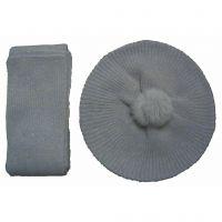 White wool winter warm scarf&hat sets Y02