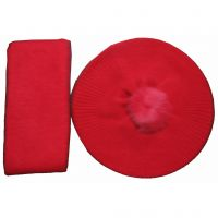 Hot sales classical red hat&scarf set cashmere&wool Y03
