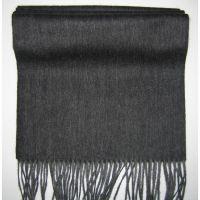 100%lambswool black friges long scarf Y-09118B