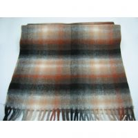 100% lambswool long stripped scarf Y-09161