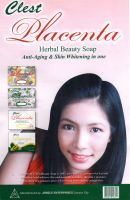 CLEST PLACENTA HERBAL BEAUTY SOAP- ANTI AGING AND SKIN WHITENING