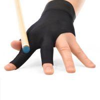 Custom Logo Pool Accessories Three Fingers Wear Resistant Shooter Pool Cue Stick Snooker Billiard Glove