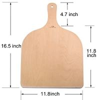high quality wooden pizza peel paddle and cutting baord embossed baking
