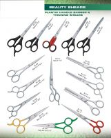 BEAUTY INSTRUMENTS High Quality Professional Plastic Handle Barber & Thinning Shears