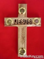 olive wood jesus cross wall hanging
