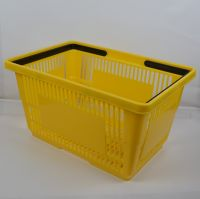 Plastic baskets with handles for shopping