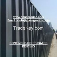UAE QATAR SAUDI ARABIA CONTINOUS SHEET HOARDING CORRUGATED SHEET SITE PERIMETER FENCING - DANA STEEL