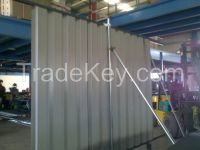 corrugated profile sheet fencing hoarding supplier in uae dubai abu dhabi qatar- dana steel
