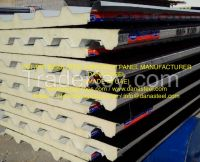 Insulated Roof Wall Aluminum PUF(b2/b3/pir) Sandwich panels
