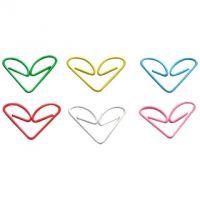 Vinyl Coated Heart Paper clips