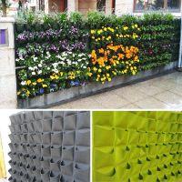 Eco-friendly Nonwoven Fabric Artificial Flower Wall Planter urban garden