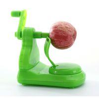 Hand crank fruit peeler