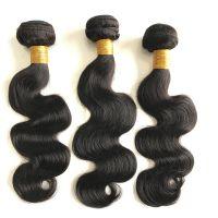 Virgin human hair wig  body weave 100% usprocessed wig  8A grade  natual black