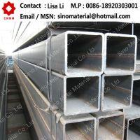 Black and galvanized squre steel pipe
