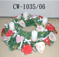Candle holder, ring, wreath