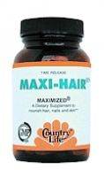 Country Life Maxi Hair Maximized, 60 tabs