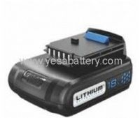 Power tool battery for       Black&Decker Li-ion 18V   A1118L
