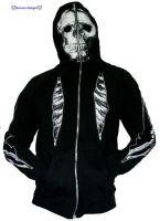 Mens Skull Hoodies Full Print