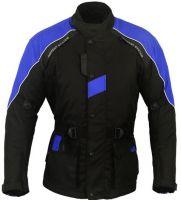 Textile Motorbike Jacket Long Black
