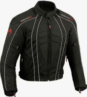 Textile Motorbike Jacket Short Black