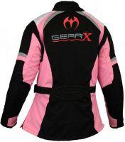 Textile Motorbike Jacket Womens Pink