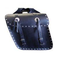 Leather Luggage Saddle Bag 4 Motorbike