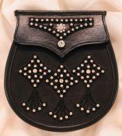 Scottish Sporran Leather Gem stone
