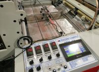 High Speed Two Lines Hot Cutting T-shirt Bag Making Machine