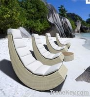 Outdoot rattan sun lounge