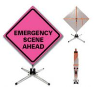 Vinyl Roll Up Portable Accident Scene Signs