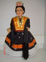 licenced FRIDA KALO doll, Mexican dress dolls, baby dolls