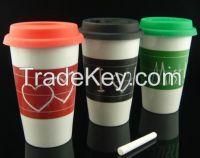 12oz Ceramic porcelain coffee chalk cup