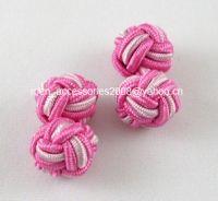 silk knot cufflinks