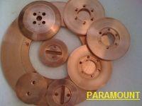 Seam welding wheel electrode