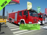HOWO 4x2 red fireman vehicle rescue vehicles firetruck howo fire truck water tank-foam fire fighting truck 0086-13635733504
