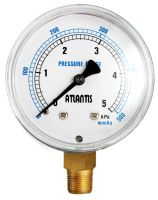 Black Steel Case Micro Pressure Gauge