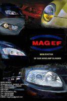 car headlamp glass