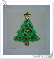 acrylic rhinestone sticker for Christmas decoration