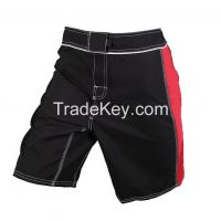 Mma fight shorts black & Red Custom Mma shorts