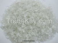 Pet Flakes Clear/White Hot Washed
