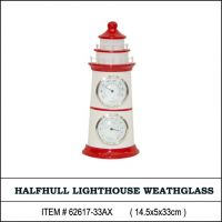 Nautical shadows and lighthouses collection thermometer and hygrometer