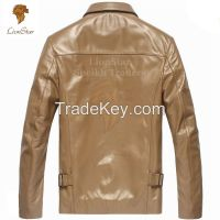 Stylish Top Quality Beautiful Men's Real Leather Fashion Coat/Jacket Slim Fit