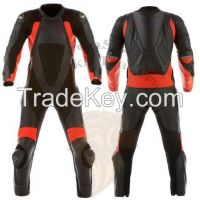 LionStar Motorbike Leather Suit with CE Approved Protectors