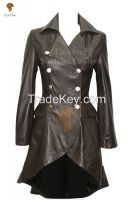 Long Leather Matrix / Victorian Coat For Ladies
