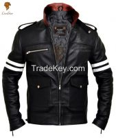 LionStar Beautiful Men's Real Leather Motorbike Jacket