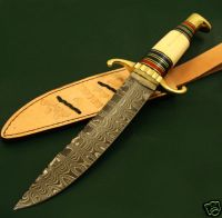 damascus hunting knive