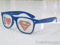 Pinhole stylish Sunglasses with sticker logo