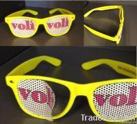 Sticker Pinhole Sunglasses With Custom Logo